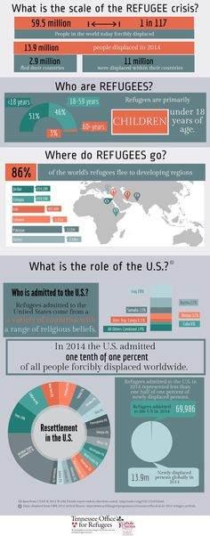 How many refugees are there globally?  How many end up in the United States? We've put together this infographic using 2014 refugee data.  www.cctenn.org/tor