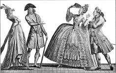 """Ah Queelle Antiquite"" a 1793 contrast between French fashions of 1793 and ca. 1778"