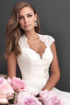 A romantic A-line gown featuring lace keyhole back Style #2611 I @Allure Bridals I http://www.weddingwire.com/wedding-photos/dresses/allure-romance/i/721745f3b8b192df-bfb659581b242c74/99c37b1e84c56692