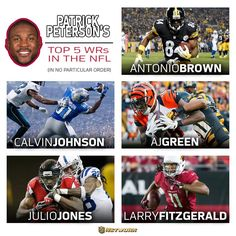 Top 5 WRs in the NFL?  We asked a guy that covers em all.   One of the best in the game, Patrick Peterson...      (2015 season)