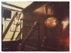 How to make an average photo reasonable - with filters! Carriages at Didcot Railway Museum.