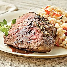 The Best Surf-and-Turf Recipe: Lobster Risotto with Herb-rubbed Beef Tenderloin