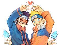 Uchiha Obito e Uzumaki Naruto Anime Naruto, Boruto, Naruhina, Naruto Fan Art, Naruto Sasuke Sakura, Naruto Cute, Naruto Shippuden Sasuke, Me Anime, Fanarts Anime