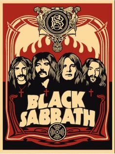 Black Sabbath early rare poster