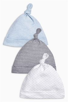 Tie Top Hats Three Pack (0-18mths)  Bought these - £5