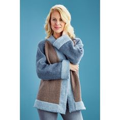 "Mary Maxim - Tri-Tone Jacket - Small (38"") - 25% Off Apparel Kits - Promotions"