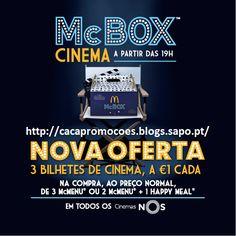 Promoções McDonald's - Bilhetes de Cinema a 1,00€ - http://parapoupar.com/promoes-mcdonalds-bilhetes-de-cinema-a-100/