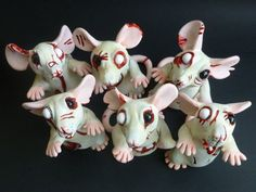 Zombie Rats Batch 2 by philosophyfox on DeviantArt