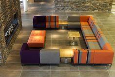 Meubilair lounge van Hotel Lumen te Zwolle door Thereca