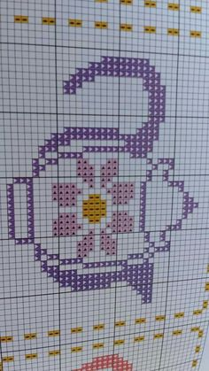 This Pin was discovered by Mus Embroidery Needles, Cross Stitch Embroidery, Cross Stitch Borders, Cross Stitch Patterns, Crochet Carpet, Cross Stitch Kitchen, Cross Stitch Collection, Hand Embroidery Designs, Plastic Canvas Patterns