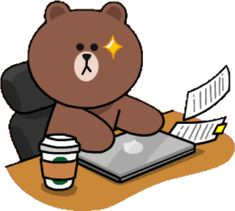 Bisous Gif, Greeting Words, Cony Brown, Cute Love Gif, Bunny And Bear, Cute Love Cartoons, Bear Wallpaper, Line Friends, Cool Stickers