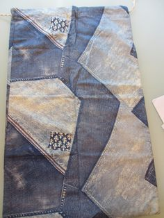 Vintage Denim Patchwork Laundry Bag by MemphisNanney on Etsy
