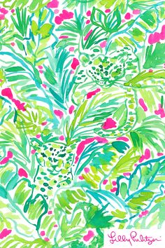 Palm beach jungle - lilly pulitzer x starbucks 2017 pink акварель, обои. Lilly Pulitzer Patterns, Lilly Pulitzer Prints, Lily Pulitzer Wallpaper, Tropical, Art Design, Palm Beach, Print Patterns, Watercolor, Art Prints