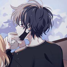 Cute Anime Profile Pictures, Matching Profile Pictures, Cute Anime Pics, Cute Anime Boy, Anime Couples Drawings, Anime Couples Manga, Couple Drawings, Anime Guys, Anime Neko