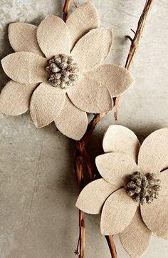 winter fabric flowers