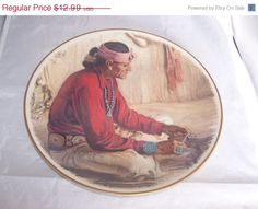 SALE 20 percent off NAVAJO SILVERSMITH Plate by by vintagebyrudi