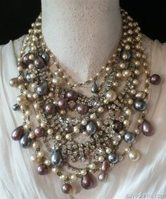 Vintage Jewelry Crafts Kay Adams - beautiful - I bet something like this could be be made but very time consuming Jewelry Crafts, Jewelry Art, Vintage Jewelry, Jewelry Accessories, Handmade Jewelry, Jewelry Design, Fashion Jewelry, Antique Jewelry, Women's Fashion
