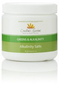 Alkalinity Salts by Creation's Garden. $18.00. Creation's Garden ® Alkalinity Salts are a combination of four powerful carbonate salts (sodium, magnesium, potassium, and calcium) that help maintain pH levels in the body. By adding this product to food and drink, you can supplement the mineral salts that are naturally occurring in all fluids of the body.