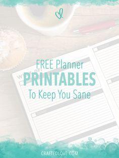 Free Planner Printables To Keep You Sane