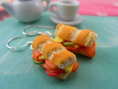 More Tiny Food Jewelry Made of Polymer Clay