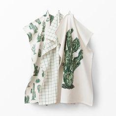 Kökshandduk Kaktus 3-pack