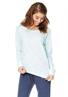 Libby Banded Bottom Long-Sleeve - Tops - Clothes - dELiA*s