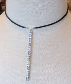A personal favorite from my Etsy shop https://www.etsy.com/listing/526429592/rhinestone-crusted-silver-bar-black