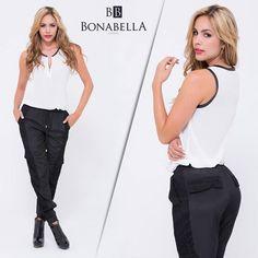 Tendencia bicolor: Blanco y negro, ideal para cualquier ocasión.