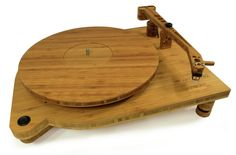 Belt-driven bamboo turntable gets vinyl in a beautiful spin