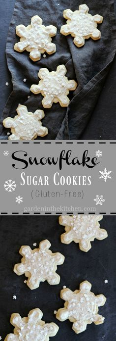 rejoice in the festivities with this delicious and classic sugar cookie that is soft and heavenly! Christmas Desserts, Christmas Treats, Christmas Recipes, Christmas Cookies, Holiday Recipes, Healthy Vegan Desserts, Easy Desserts, Gluten Free Cookies, Sugar Cookies
