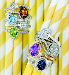Spring Collection: Breathtaking Gold Rings With Gemstones and Diamonds *Valid until 6 Nov 2013 Everyone needs a bit of colour Gold Jewelry, Fine Jewelry, Best Jewelry Stores, Bangles, Bracelets, Spring Collection, Bracelet Watch, Diamonds, Silver Rings