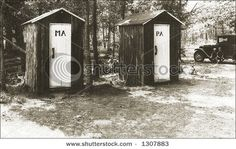 His and Hers Outhouses