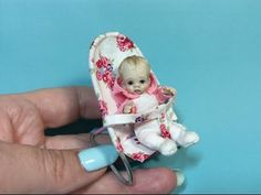 MINIATURE TUTORIAL - DOLLHOUSE BABY Bouncy Chair - HOW TO MAKE VIDEO - YouTube