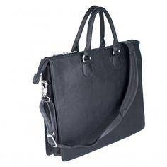"""AKTENTASCHE LADY BIZ Eine klassische Schönheit: Die schmale und elegante Aktentasche Lady Biz von Camelo aus fein genarbtem Rindsleder. Nebst der wunderschönen Verarbeitung und dem edlen Design besticht die Lady Biz durch ihr funktionelles Innenleben mit genügend Platz für ein Notebook bis 12.5""""  und Ihre Geschäftsunterlagen. Dabei ist sie sehr angenehm als Handtasche und als Anhängetasche tragbar. Farbe: Schwarz"""