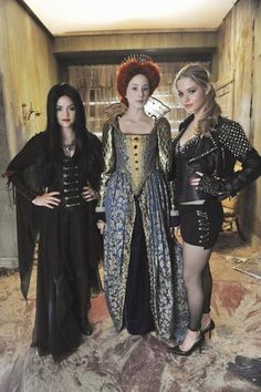Halloween Episode- Pretty Little Liars. The only person crazy enough to make and wear an exact replica of Mary Queen of Scott's execution dress is Spencer!