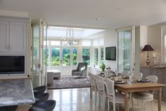 Burberry Harris Moon Orangery and conservatory gallery Garden Room Extensions, House Extensions, Orangery Extension, Rear Extension, Extension Ideas, Kitchen Orangery, Timber Door, Love Home, Open Plan Living