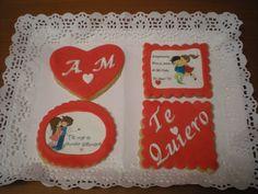 Galletas románticas, con mensaje y decoradas!
