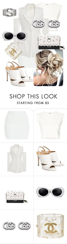 """Untitled #707"" by anyme ❤ liked on Polyvore featuring Puma, Christian Siriano, Gucci and Chanel"