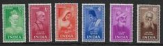 a india sg 33742 1952 set of 6 unmounted no hinge mint