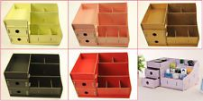 DIY Cardboard Big Storage Box Desk Decor Stationery Makeup Cosmetic Organizer Y