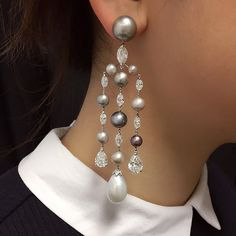 One of a kind diamond pearl chandelier earrings by amrapali for one of a kind diamond pearl chandelier earrings by amrapali for preorder on moda operandi mo gems pinterest pearl chandelier chandelier earrings mozeypictures Image collections
