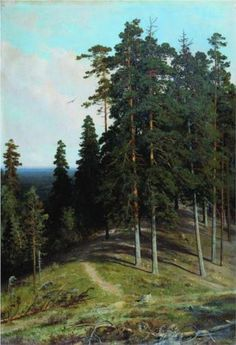 Ivan Shishkin (1832-1898): Forest from the mountain, 1895