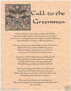 Call to The Greenman Page for Book of Shadows Parchment Wicca BOS Pages | eBay