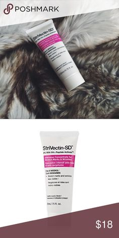 NEW StriVectin-SD Intensive Concentrate NEW StriVectin-SD Intensive Concentrate for Stretch Marks & Wrinkles. StriVectin-SD Intensive Concentrate for Stretch Marks and Wrinkles is a treatment moisturizer that targets fine lines, wrinkles and visible signs of aging. It also dramatically improves stretch marks on the body. Containing NIA-114 plus collagen-building peptides, it rebuilds and repairs the skin. It is also free of parabens, mineral oil, petroleum, artificial colors and dyes…
