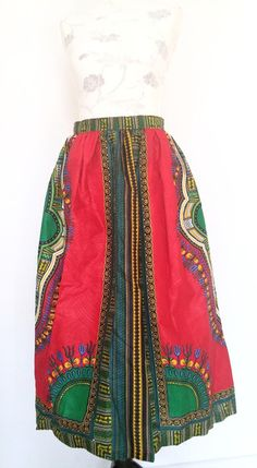 Bunt lang sommer african wax printed Röcke  von Urban-Apparel auf DaWanda.com