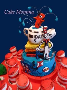 Dr. Suess  Cake by cakemomma1979