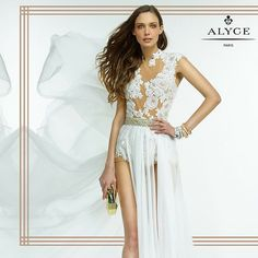 Be Brave, Be Daring go for the look of @alyceparis #prom #fashion #design #ipaprom #beyouty #alyceparis #style #white