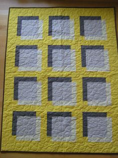 Transparency quilt.  Use of colors implies drop shadow.
