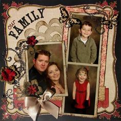Family photo scrapbook page