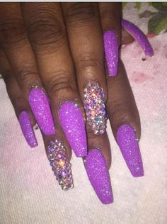 Purple Rain ☔️ Follow @Hair,Nails, & Style For More Pictures & Ideas On Nails !.